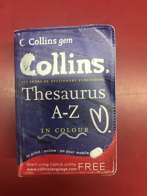 Collins gem Thesaurus A-Z in colour 5E (SECOND HAND)