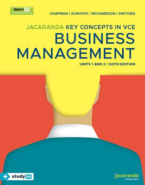 Key Concepts Business Management VCE Units 1&2 6E + StudyOn (PRINT + DIGITAL)