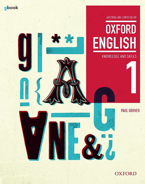 Oxford English 1 Knowledge and Skills Australian Curriculum Student book + obook