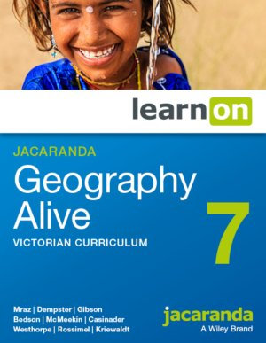 Jacaranda Geography Alive 7 Victorian Curriculum LearnON + Myworld Atlas