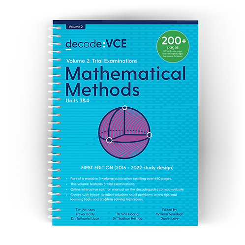 Decode: VCE Mathematical Methods Units 3&4 Volume 2