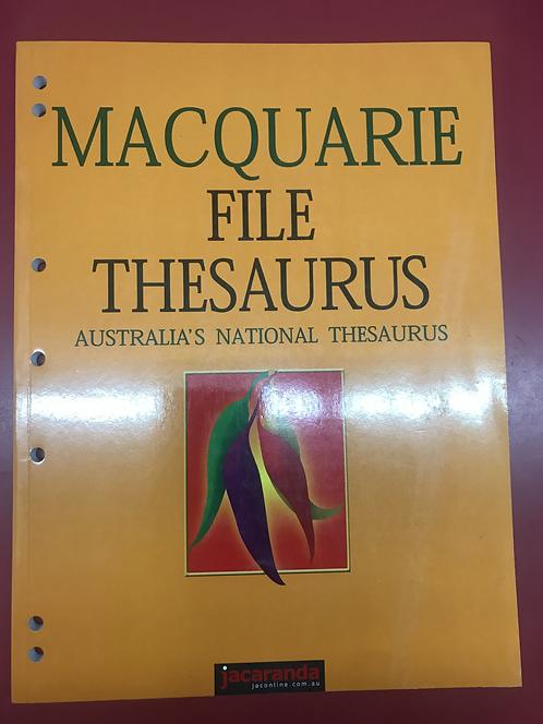 Macquarie File Thesaurus  (SECOND HAND)