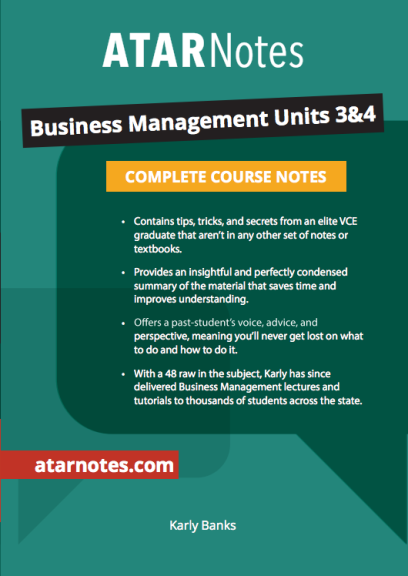ATARNotes Business Management Complete Course Notes Units 3&4