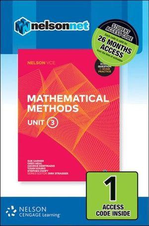 Nelson VCE Mathematical Methods Unit 3 (1 Access Code) (DIGITAL)
