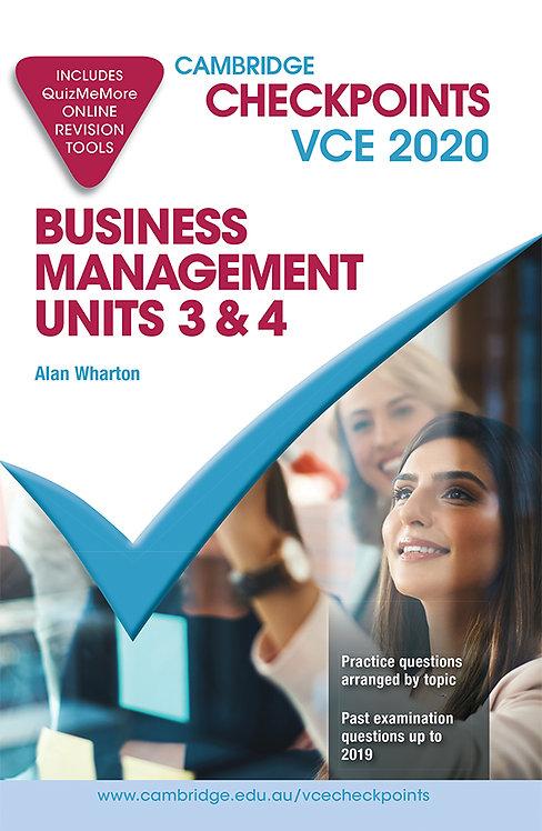 Cambridge Checkpoints VCE Business Management Units 3&4 2020
