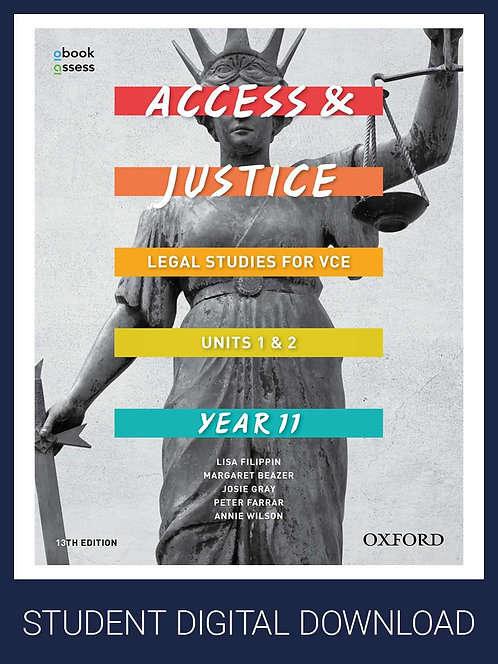 Access and Justice VCE Legal Studies Units 1&2 13E oBook assess (DIGITAL)