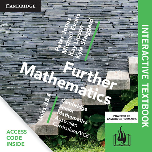 Cambridge Senior Maths: VCE Further Mathematics Units 3&4 Interactive Text