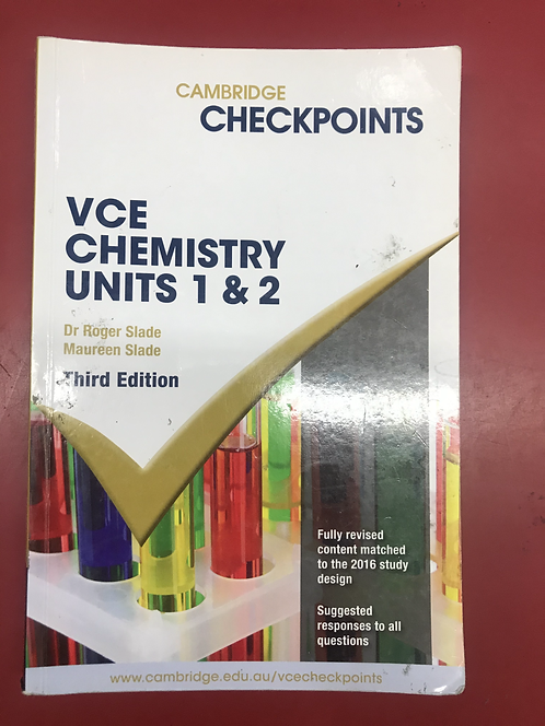 Cambridge Checkpoints VCE Chemistry Units 1&2 3E (SECOND HAND)