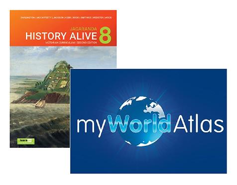 Jacaranda History Alive 8 2E Victorian Curriculum + Myworld Atlas (DIGITAL)