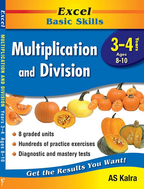 Excel Basic Skills - Multiplication and Division Years 3-4