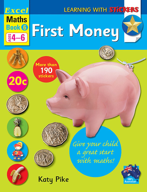 Excel Learning with Stickers Maths Book 6 School Skills–First Money