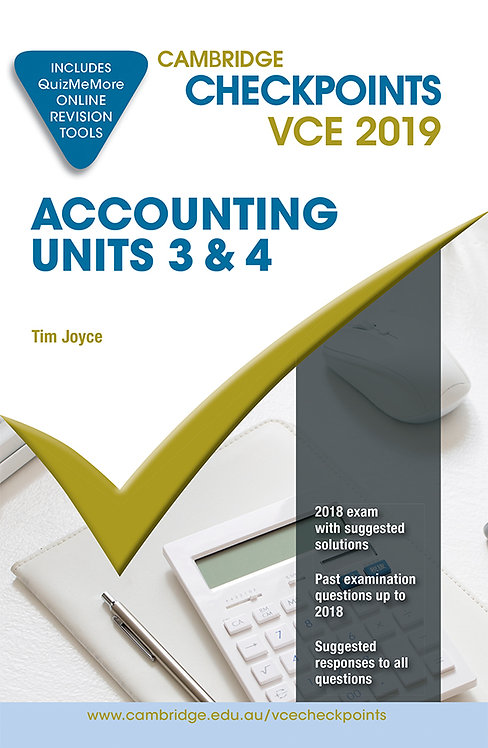 Cambridge Checkpoints VCE Accounting Units 3&4 2019