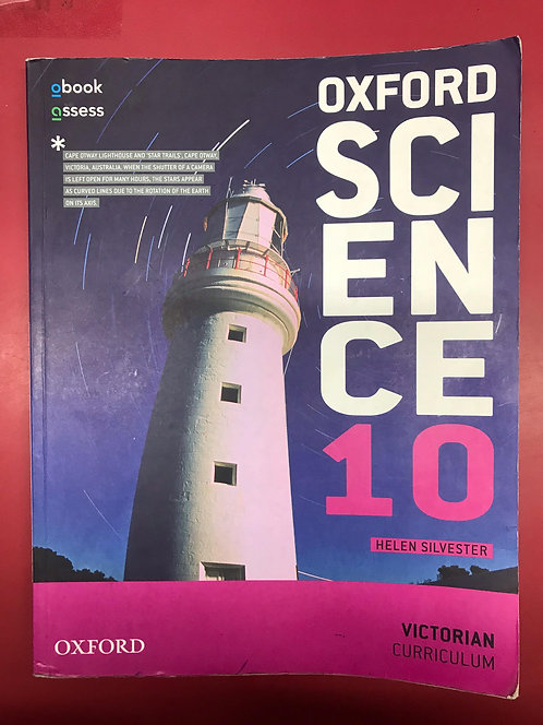 Oxford Science 10 Victorian Curriculum Student Book (SECOND HAND)