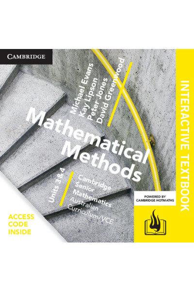 Cambridge Senior Maths: VCE Mathematical Methods Units 3&4 Interactive Text