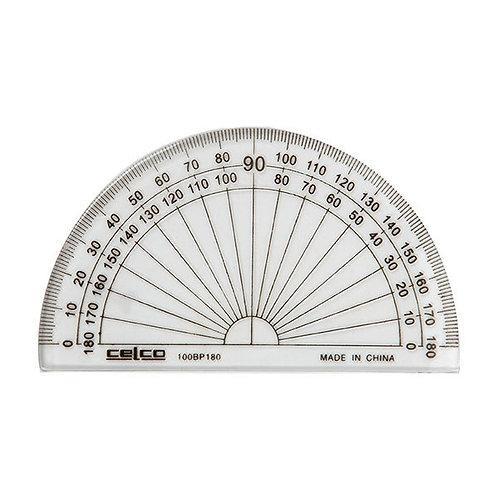 1x Protractor 10cm 180 4' Half Circle