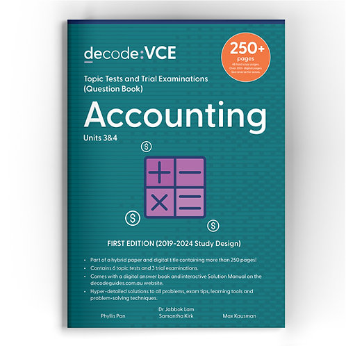 Decode: VCE Accounting Units 3&4