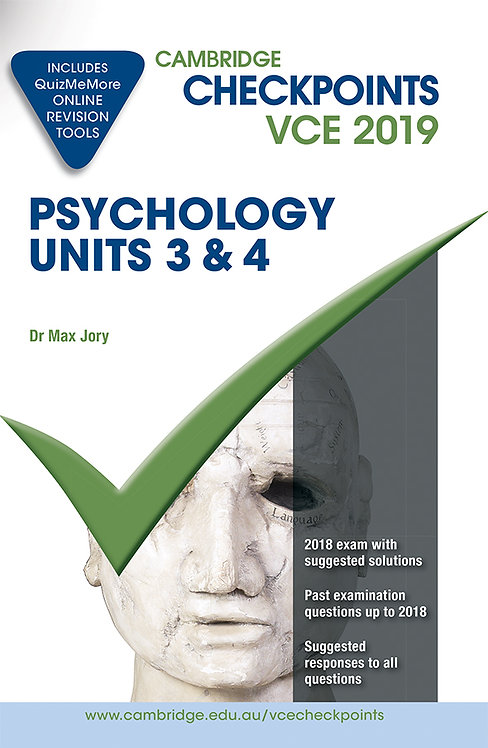 Cambridge Checkpoints VCE Psychology Units 3&4 2019