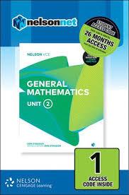 Nelson VCE General Mathematics Unit 2 (1 Access Code) (DIGITAL)