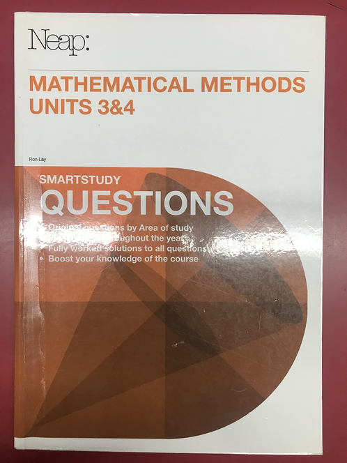 NEAPMaths Methods Units 3&4 Questions Guide (SECOND HAND)