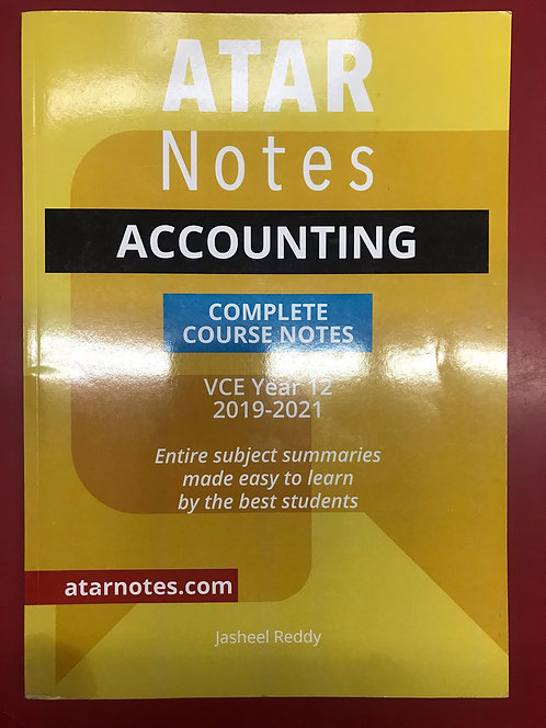 ATARNotes Accounting Complete Course Notes Units 3&4 (SECOND HAND)