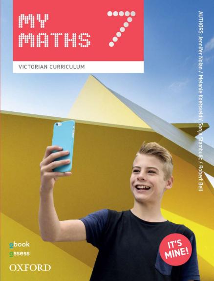 Oxford MyMaths 7 Victorian Curriculum Student book +obook assess (PRINT+DIGITAL)