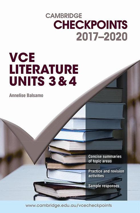 Cambridge Checkpoints VCE Literature Units 3&4 2017-2020