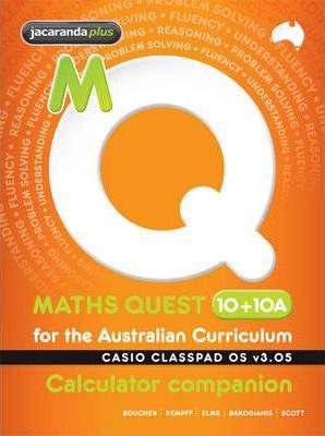 Maths Quest 10+10A for the AC Casio Classpad Calculator Companion