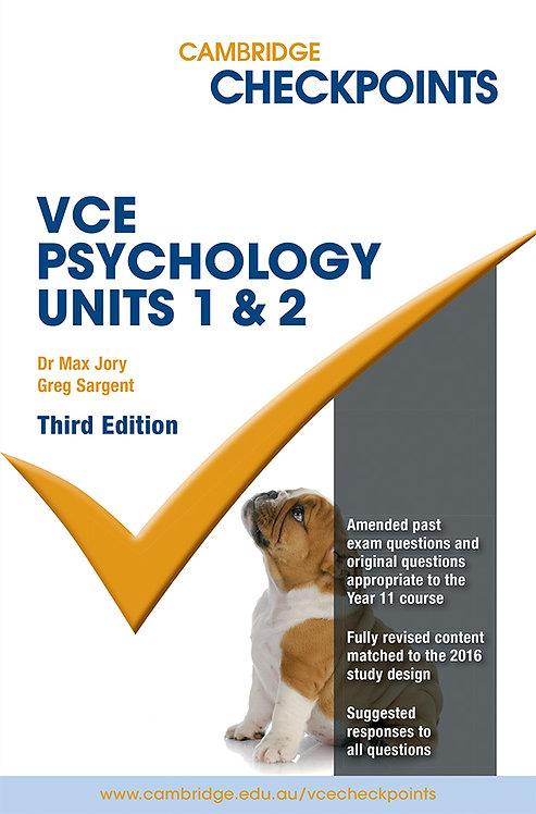Cambridge Checkpoints VCE Psychology Units 1&2