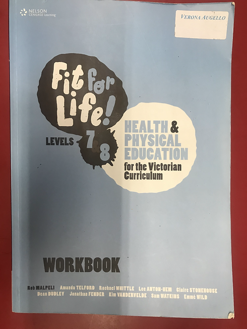 Fit for Life! for Victoria Levels 7&8 Workbook (SECOND HAND)