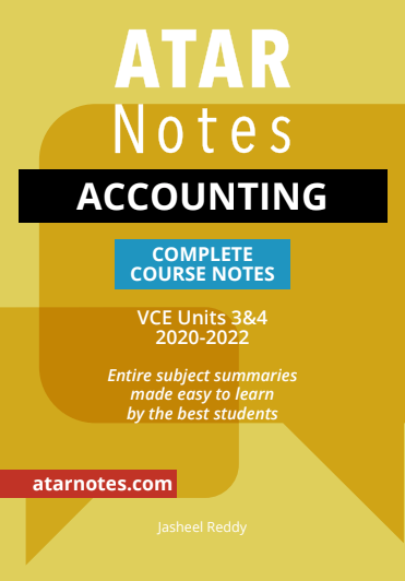 ATARNotes Accounting Complete Course Notes Units 3&4