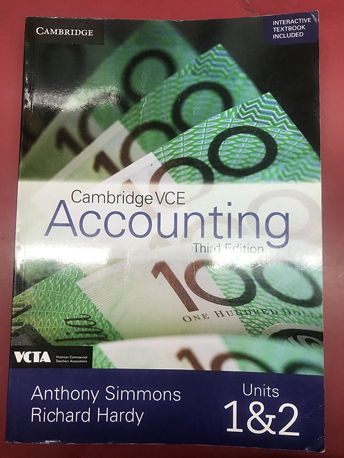 Cambridge VCE Accounting Units 1&2 3E (SECOND HAND)