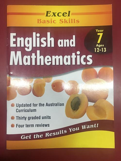 Excel Basic Skills:English and Mathematics Year 7 (SECOND HAND)