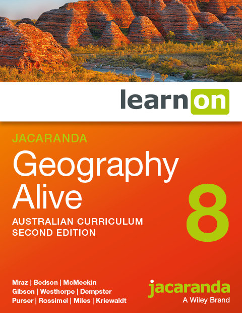 Jacaranda Geography Alive 8 2E Australian Curriculum LearnON (DIGITAL)