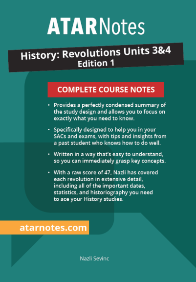 ATARNotes History: Revolutions Complete Course Notes Units 3&4