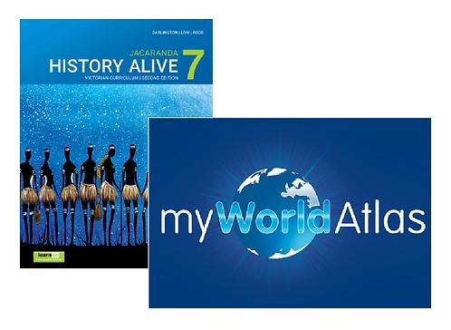 Jacaranda History Alive 7 2E Victorian Curriculum + Myworld Atlas (DIGITAL)