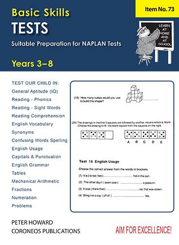 Basic Skills Test Yrs 3-8 Suitable preparation for NAPLAN* Tests (Basic Skills N