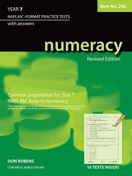 Numeracy Year 7 - NAPLAN* Format Practice Tests #246