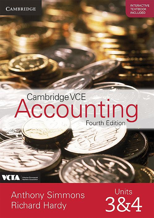 Cambridge VCE Accounting Units 3&4 4E Value Pack (PRINT + DIGITAL)
