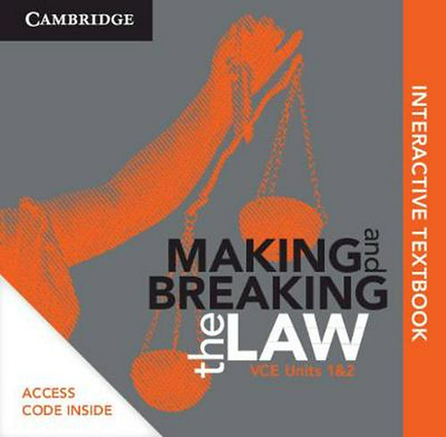 Cambridge Making and Breaking the Law VCE Units 1&2 (DIGITAL)