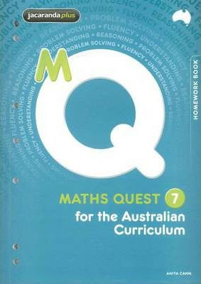Maths Quest 7 for the Australian Curriculum Homework Book