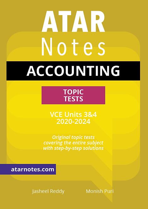 ATARNotes Accounting Topic Tests Units 3&4