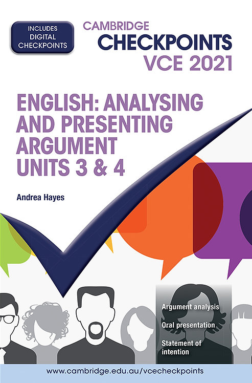 Cambridge Checkpoints VCE English: Analysing & Presenting Arguments 3&4 2021