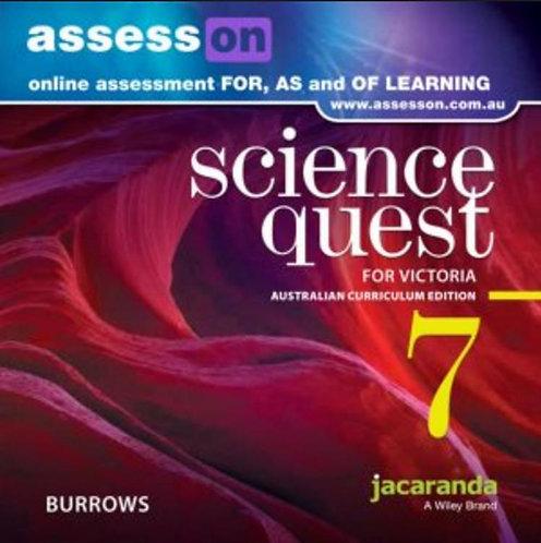 Jacaranda Science Quest 7 for Victoria Australian Curriculum AssessON (DIGITAL)