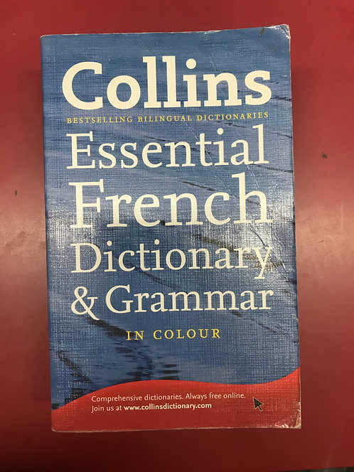 Collins Essential French Dictionary & Grammar in colour 3E (SECOND HAND)