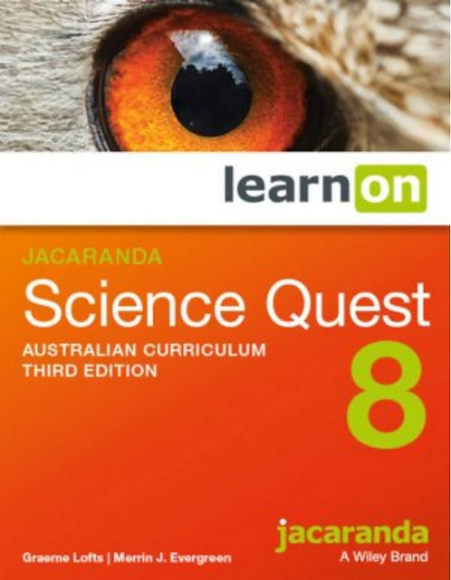 Jacaranda Science Quest 8 Australian Curriculum 3E LearnON (DIGITAL)