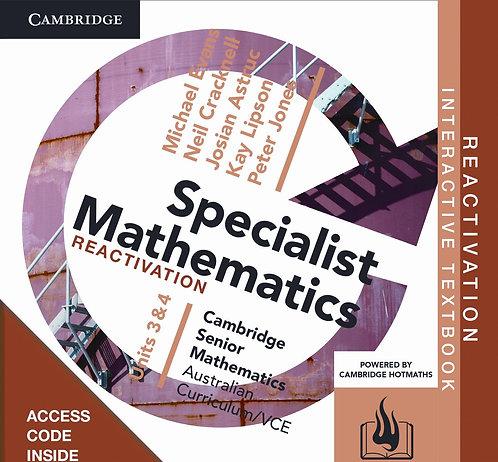 Cambridge Senior Maths: VCE Specialist Mathematics Units 3&4 Reactivation Code