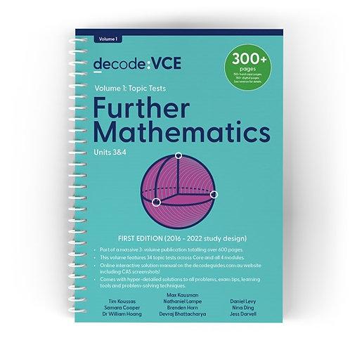 Decode: VCE Further Mathematics Units 3&4 Volume 1
