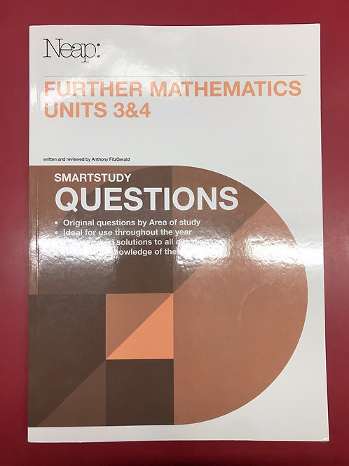 Further Maths Units 3&4 Questions Guide (SECOND HAND)