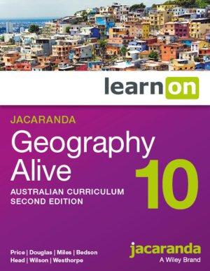 Jacaranda Geography Alive 10 2E Australian Curriculum LearnON + Myworld Atlas
