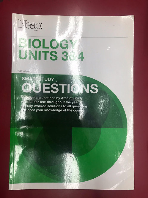 Biology Units 3&4 Questions Guide (SECOND HAND)